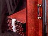 Koženkové shrnovací dveře - detail