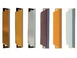 Plastové shrnovací dveře - barvy madel