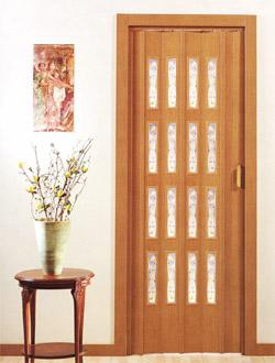 Shrnovací plastové dveře