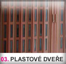 Shrnovací dveře plastové